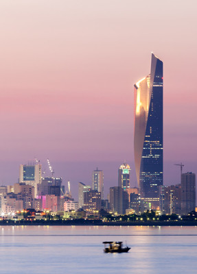 Kuwait Skyline at Night | EER: Relocation, Immigration & Company Incorporation Services in the Middle East